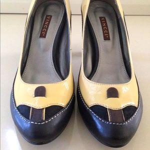 Vincci+ Vintage inspired pump with block heels
